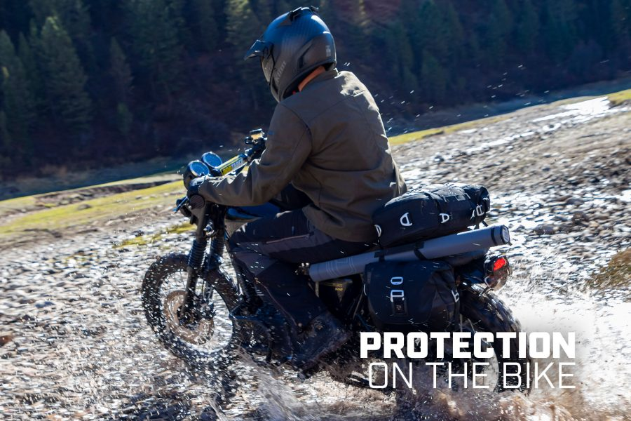 The Switchback pants have knee and hip pads for protection. Photo: Klim