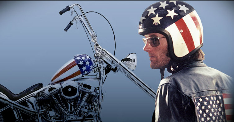 Peter Fonda defined the role of an outlaw biker. Photo: PeterFonda.com