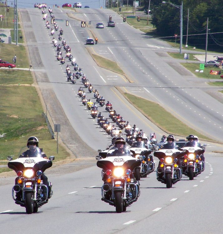 Police escort trail of tears