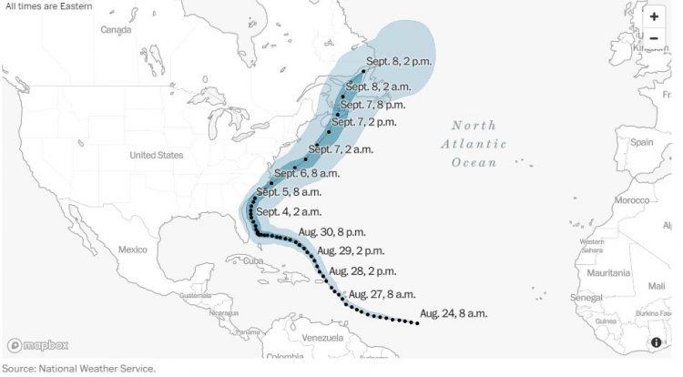 Hurricane Dorian track NWS
