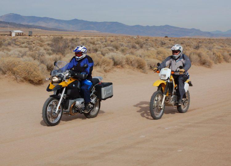 Dual sport adventure motorcycle