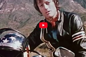 Peter Fonda And Evel Knievel; Motorcycle Safety Advocates
