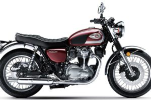 The 2020 Kawasaki W800 is only available in red in the US. Photo: Kawasaki