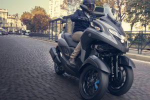 Behold Yamaha's latest leaning three-wheeler. Photo: Yamaha