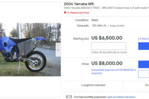 Hard to believe nobody's made a bid on this bike yet. Photo: eBay