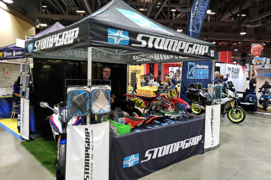 Stompgrip doesn't make parts for adventure bikes or duallies, yet, but is interested in that market. Photo: Zac Kurylyk