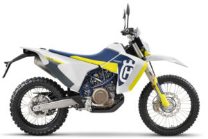 The 701 Enduro LR has almost 500 km of range, says Husky. Photo: Husqvarna
