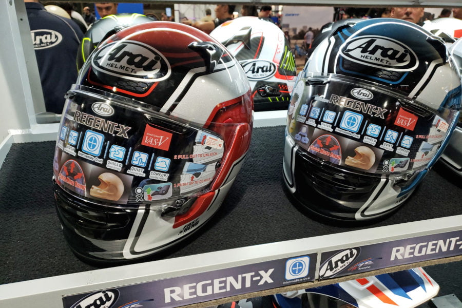 The Regent-X is supposedly more budget-friendly than Arai's other full face helmets. Photo: Zac Kurylyk