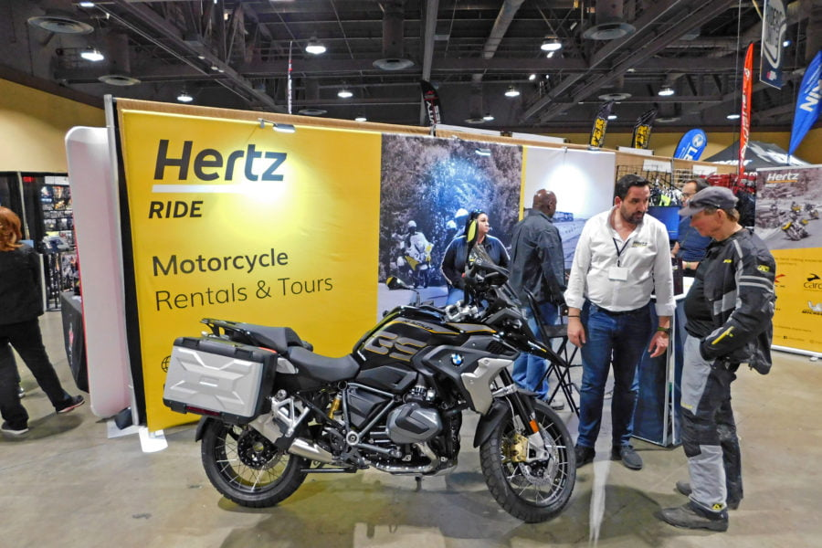 Hertz will rent BMWs at its US operations, including K1600-based machines, R1250 series bikes, and the F750 GS. Photo: Zac Kurylyk