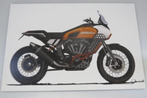 Does Somebody In The Harley Design Studio Love The KTM 950 SE – (IMS Long Beach 2019)