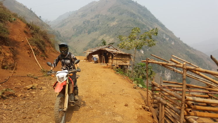 Canadian dirtbag1 riding the Ho Chi Minh Trail, Vietnam.