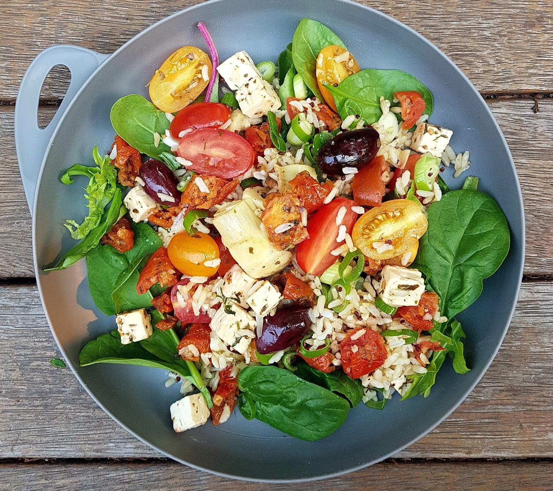 Mediterranean Inspired Grain Salad. Photo @Kylie Day