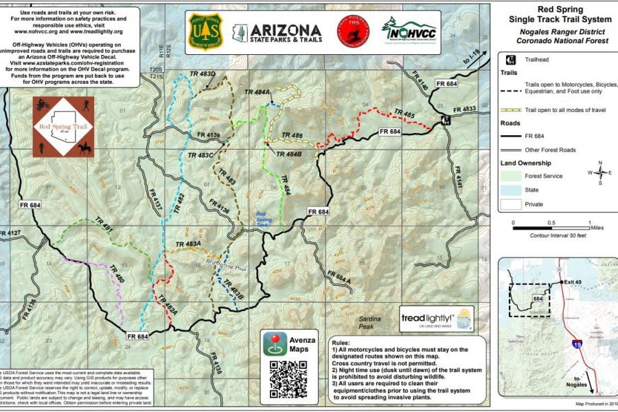 Red Springs Trail Wysopal Map