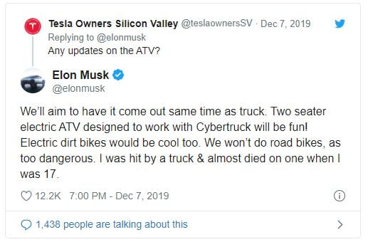 Tesla Cybertruck and ATV