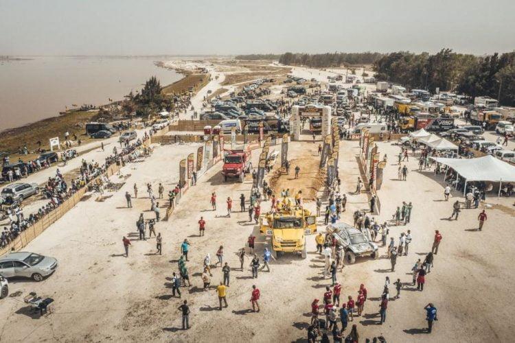 Africa Eco Race Finish Podium in Dakar ADV Rider