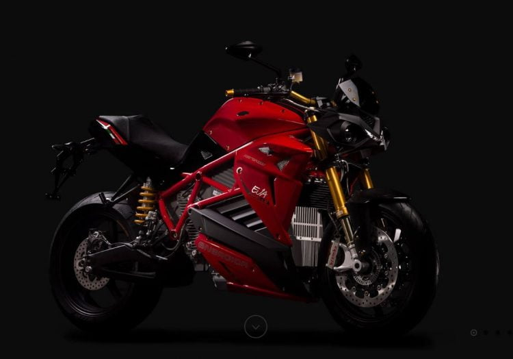 Energica electric motorcycle streetfighter