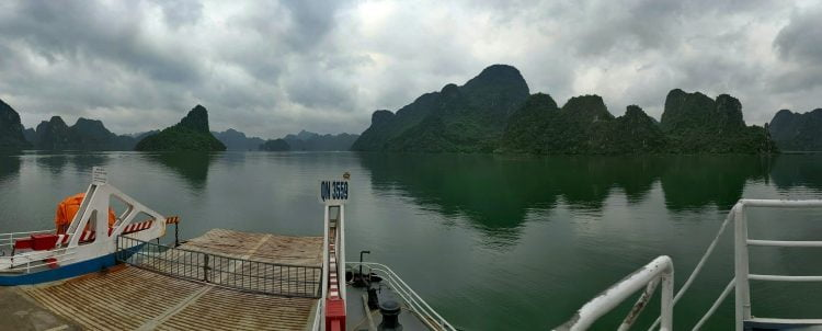 View from the ferry heading towards Cat Ba Island (Source: Lost Cartographer)