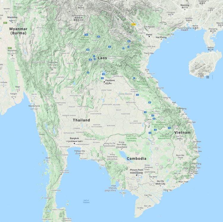 SE Asia Mountains Source: Google Maps