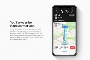 Apple's new urban navigation options should improve the Maps app. Photo: Apple