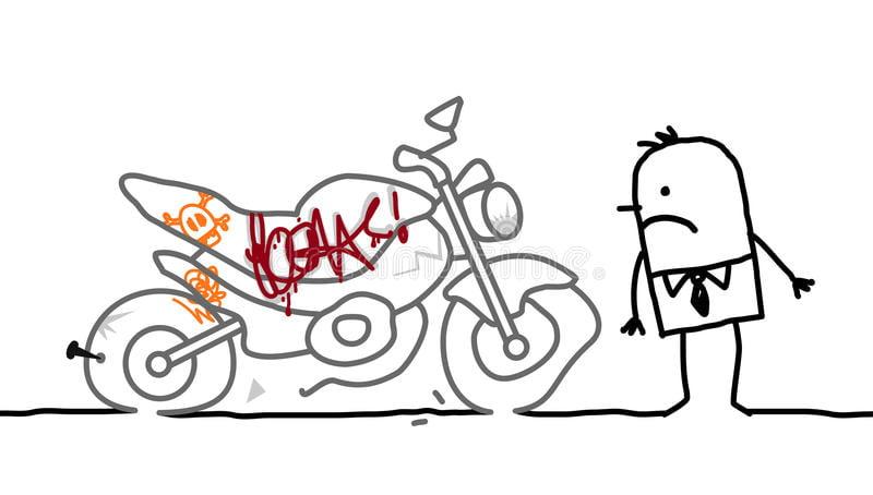 motorcycle vandalized