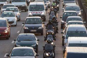 Manilla Philippines EDSA dedicated motorcycle lane