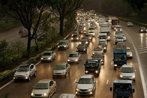 Traffic on Highway Internal Combustion Engine Emissions