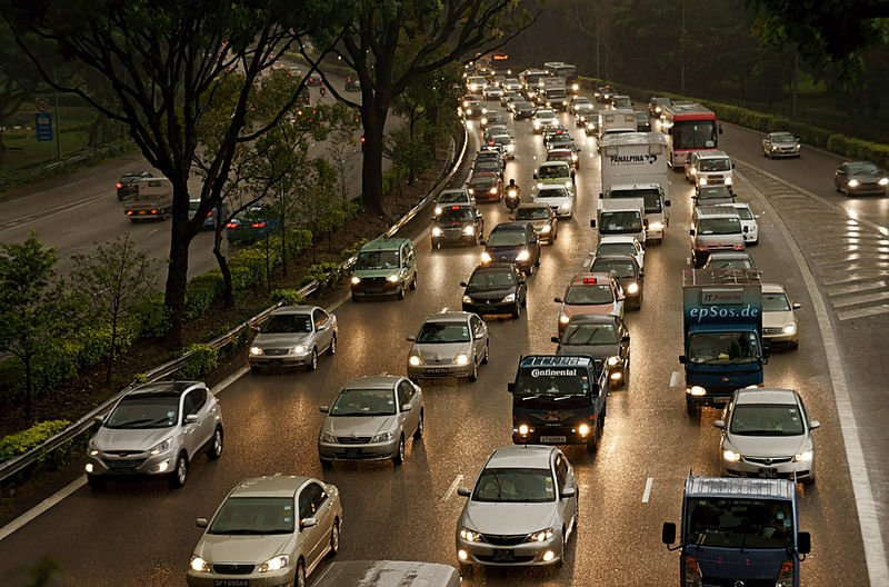 Traffic on Highway Internal Combustion Engine Emissions