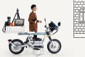 Cake Osa An electric motorcycle that … doubles as a studio? A shop? A power source?
