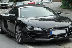 Audi R8 high status luxury car