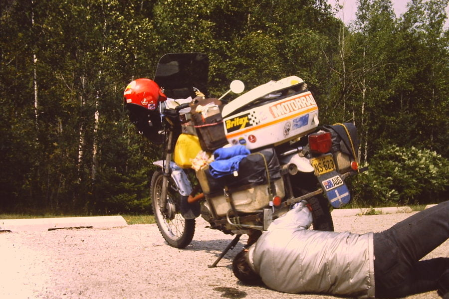 On-the-road repairs were easy on the XL250.