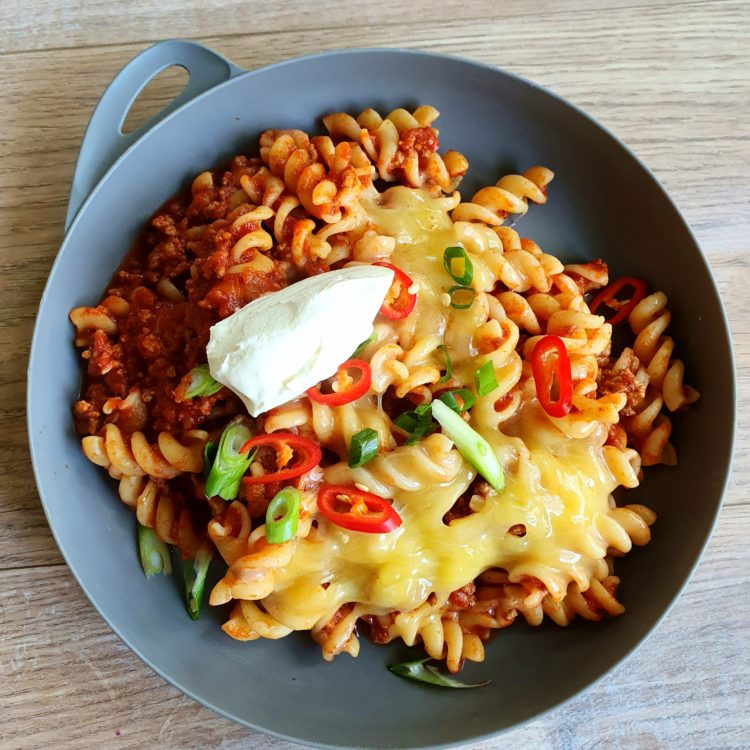 Cheesy Mexican Style Pasta. Photo @Kylie Day