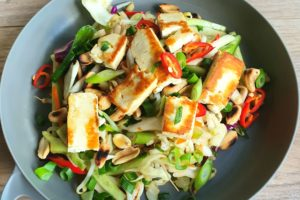 Spicy Haloumi with Peanut Slaw. Photo @Kylie Day