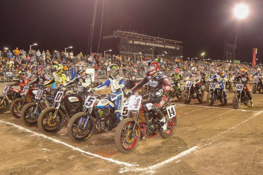 AMA flat track racing won't be running for a while. Photo: American Flat Track