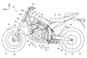 Honda's Patent Drawing