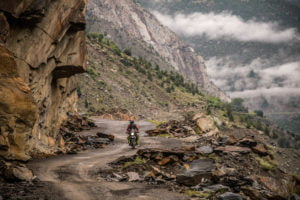 Riding in the isolated mountainous region of Himachal Pradesh