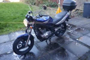 A classic Suzuki beginner bike. Photo: Gumtree