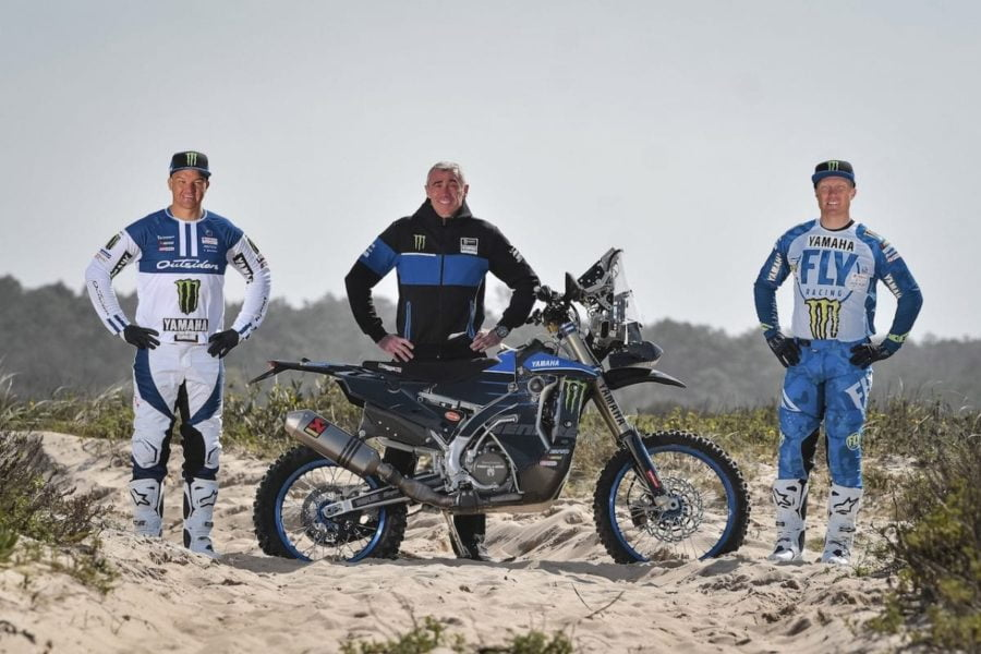 Ross Branch (l) and Andrew Short (r) will be riding for Yamaha at the 2021 Dakar rally. Photo: Yamaha