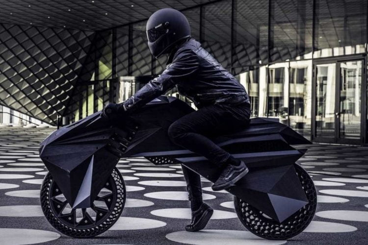 3D printed electric motorcycle by BigRep