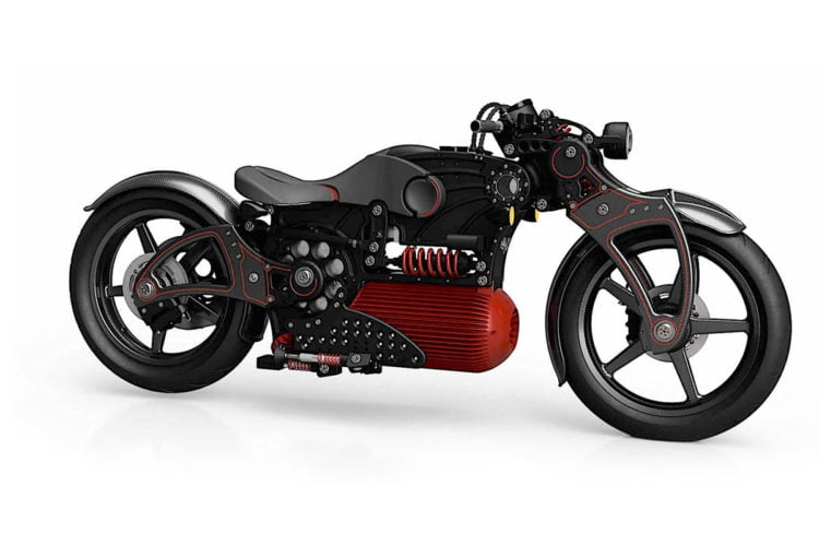 Curtiss Hades electric motorcycle - We call it the red rocket.