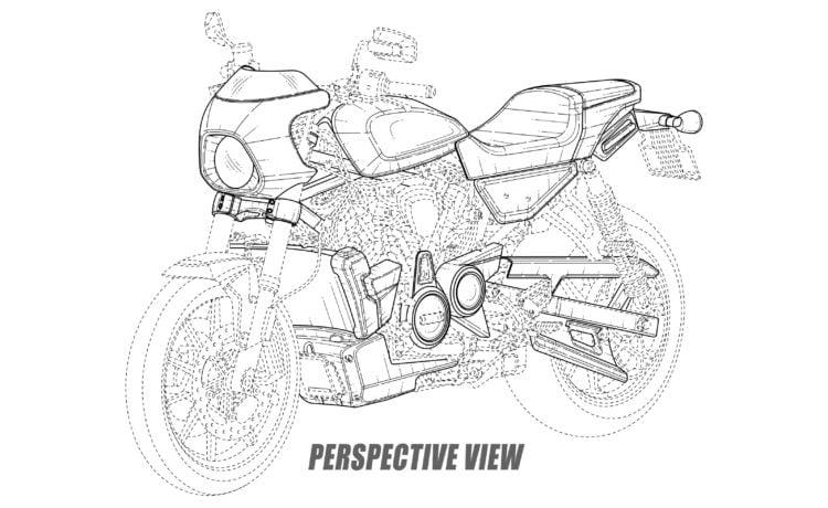 Harley cafe racer model