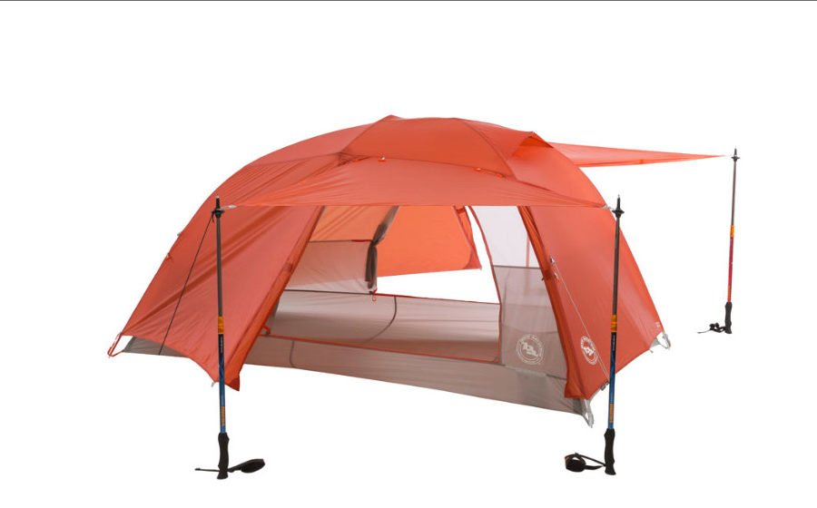 Here's one of the new Copper Spur tents from Big Agnes. Check out those massive dual entries! Photo: Big Agnes