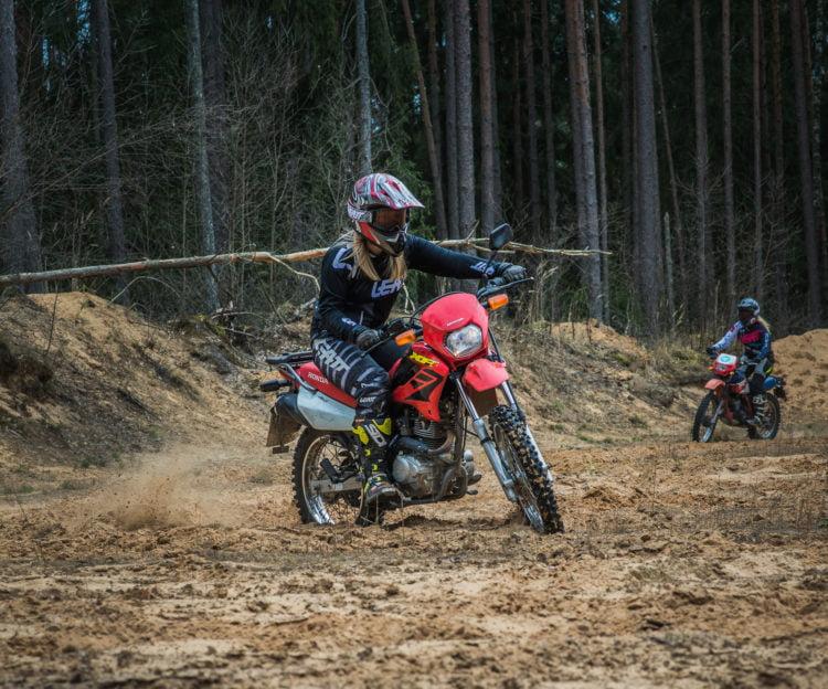 female off-road riders
