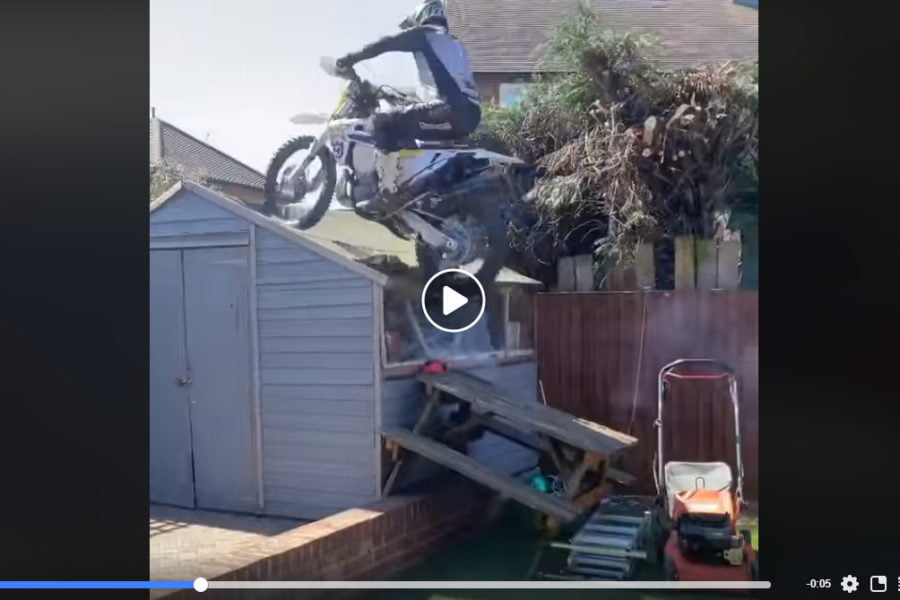 Watch Graham Jarvis destroy his shed