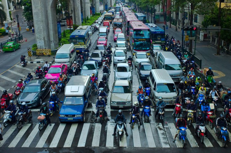 Lane Splitting Credit Wikipedia