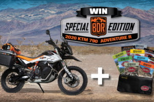 Now, you can win a new KTM 790 Adventure R, and it comes fully kitted. Photo: BDR