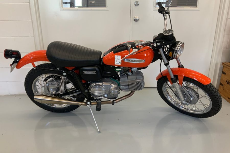 A Harley-Davidson scrambler, from the 1970s. Photo: Street Dreams Texas