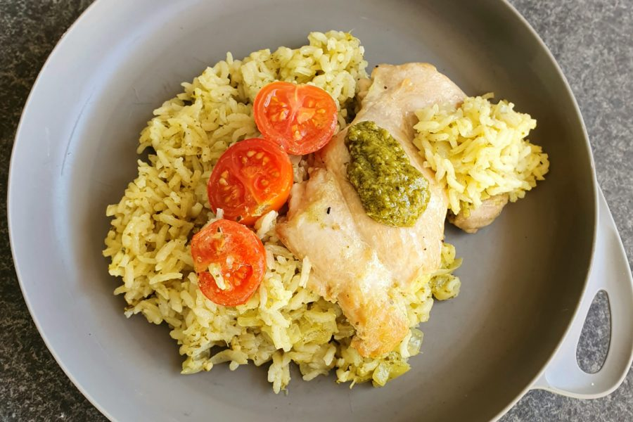 Pesto Chicken & Rice Photo @Kylie Day