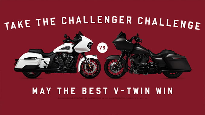 Harley versus Indian Challenger Challenge