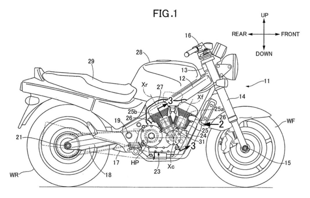 Honda Patents Show a Naked V-Twin - Adventure Rider