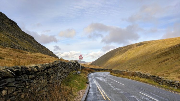 Kirkstone Pass – The road was all mine. I had to ride it.